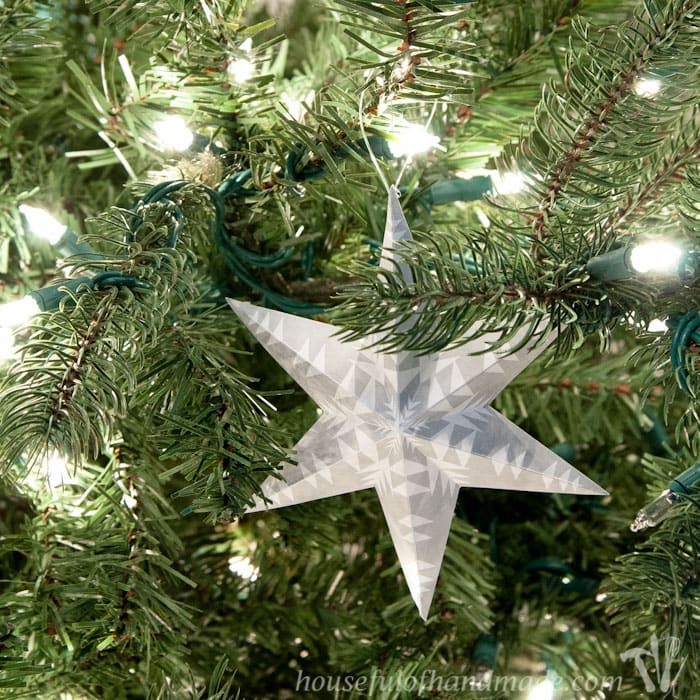 Free Printable 3D Snowflake Star Ornaments