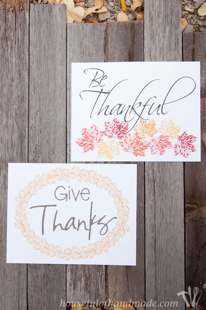 picture relating to Thanksgiving Printable Decorations titled Cost-free Printable Thanksgiving Artwork - Houseful of Do-it-yourself