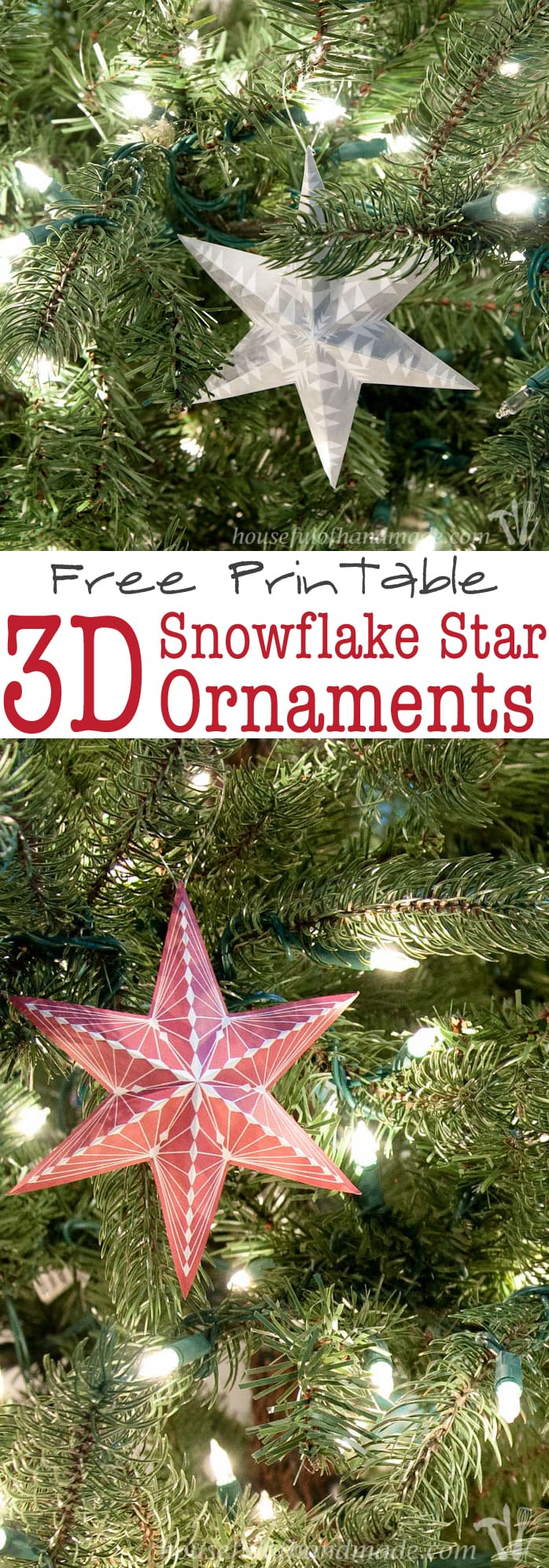 grey and red 3d printable christmas ornaments