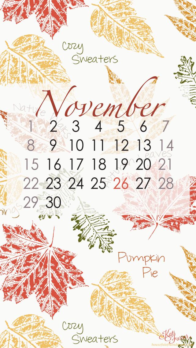 Calendar Background Images : Free digital backgrounds for november a houseful of handmade