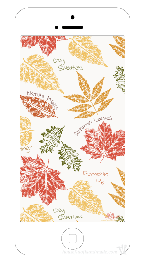 Decorate your smartphone and desktop for fall with these free digital backgrounds for November. Inspired by the beautiful fall leaves and all things autumn. | HousefulofHandmade.com