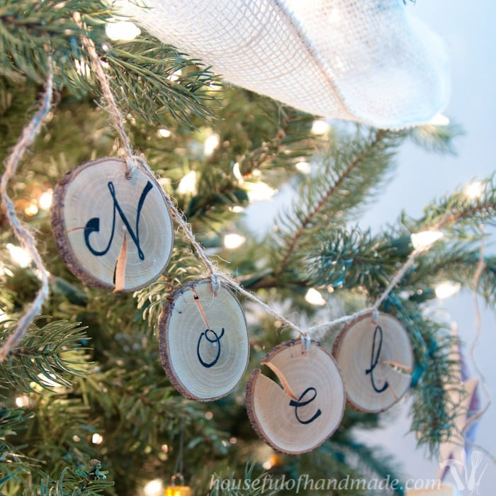 Wood Slice Ornament Banners