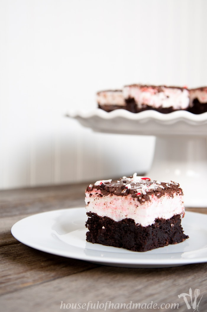 Chocolate Peppermint Brownie S'mores Bars - a Houseful of ...
