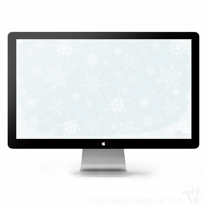 It's a winter wonderland on your phone! Enjoy the beauty of winter on your electronics with free desktop and smartphone backgrounds for January from HousefulofHandmade.com.
