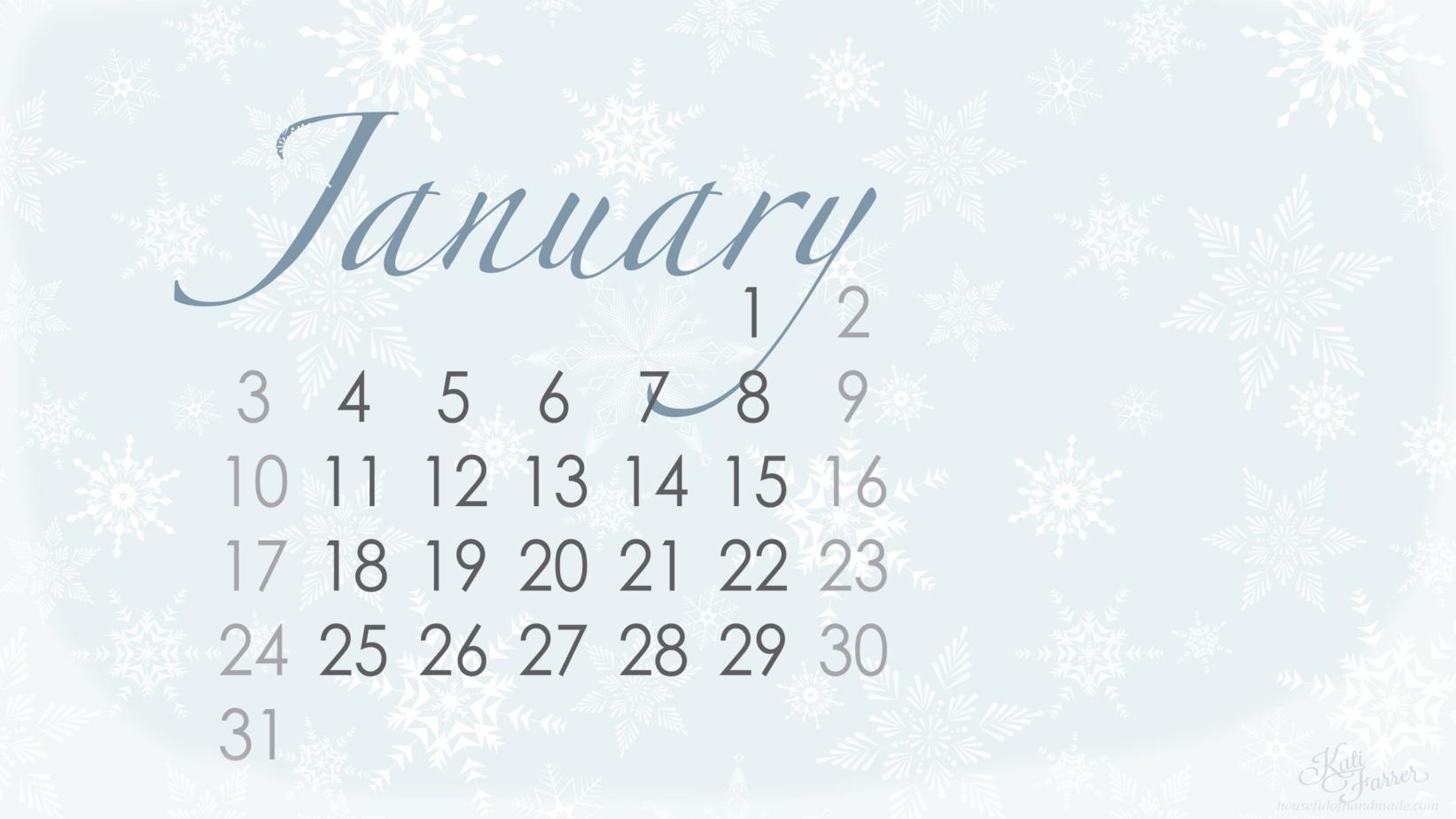 desktop background with calendar