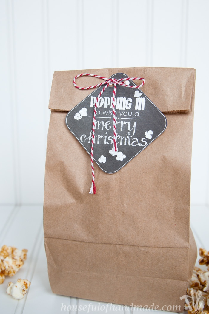Attach a Redbox gift card or DVD to make this simple popcorn gift.