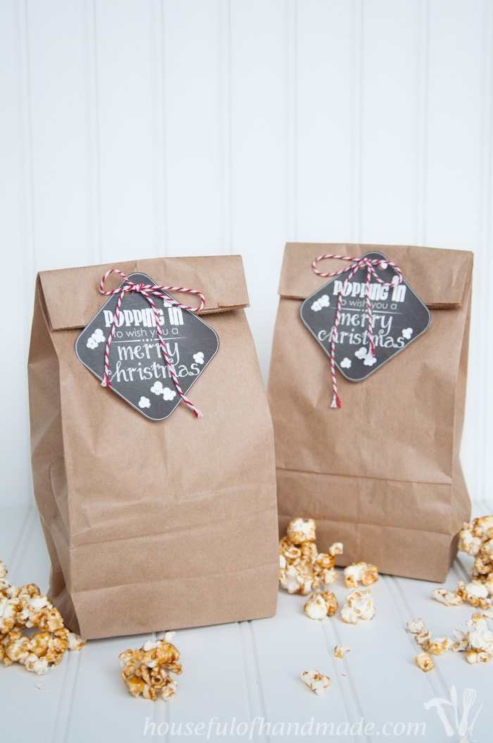 gift the gift of popcorn this christmas with these adorable popping in free printable christmas tags