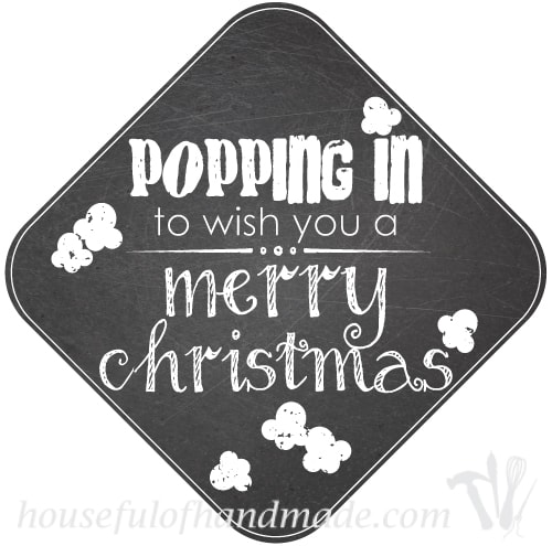 Free printable gift tag for giving popcorn treats.