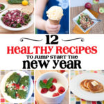 Start the New Year off right with these 12 healthy recipes. All these recipes are easy to make and will help you keep on track with your healthy goals this year.   Housefulofhandmade.com
