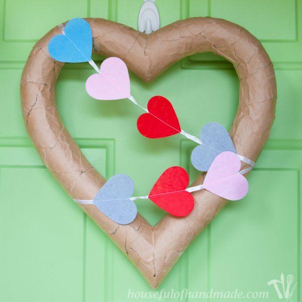 $3 Rustic Valentine's Day Heart Wreath