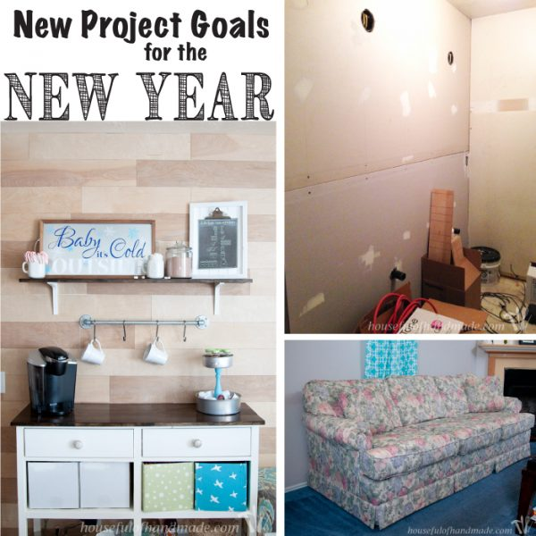 This year I am setting resolutions to get things done around the house. Follow along as I share my new projects resolutions for the new year every month. | Housefulofhandmade.com