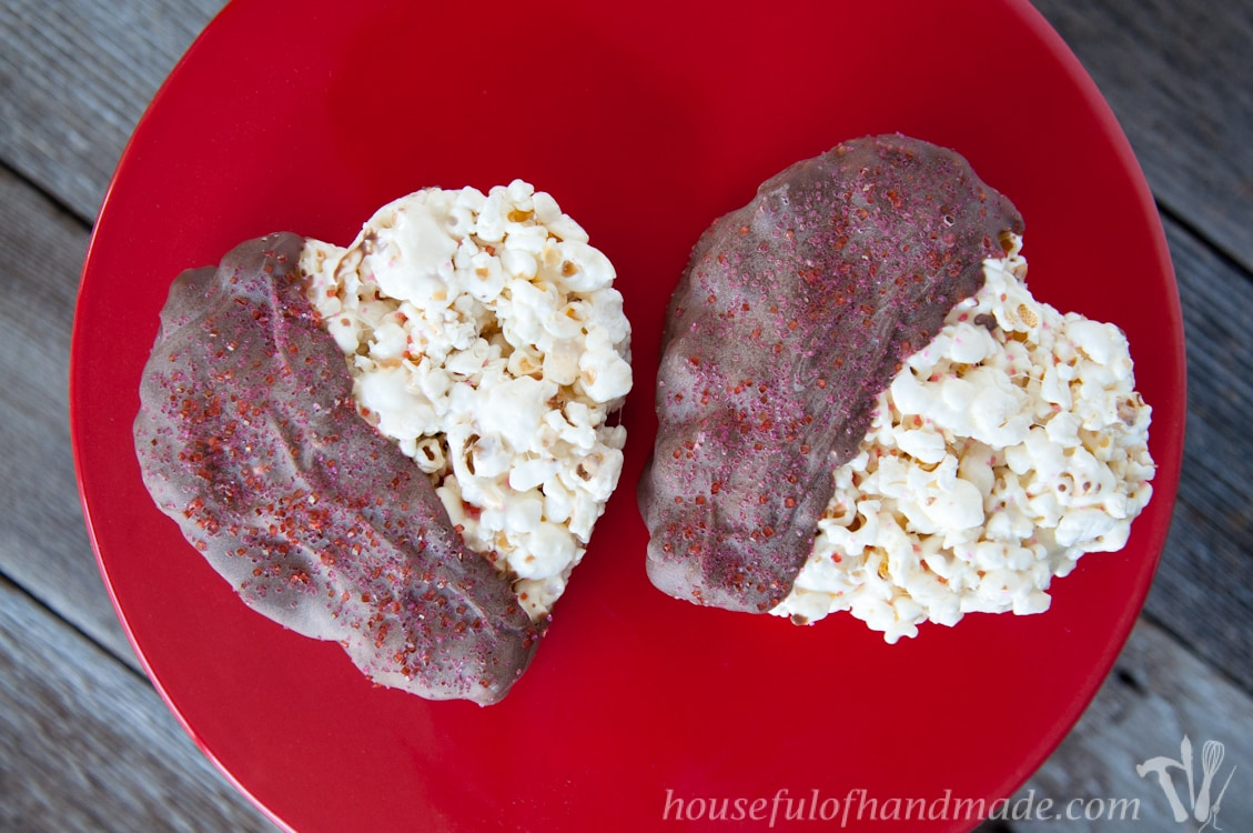 Rice Krispie Treats made out of Popcorn. Yum! | Housefulofhandmade.com