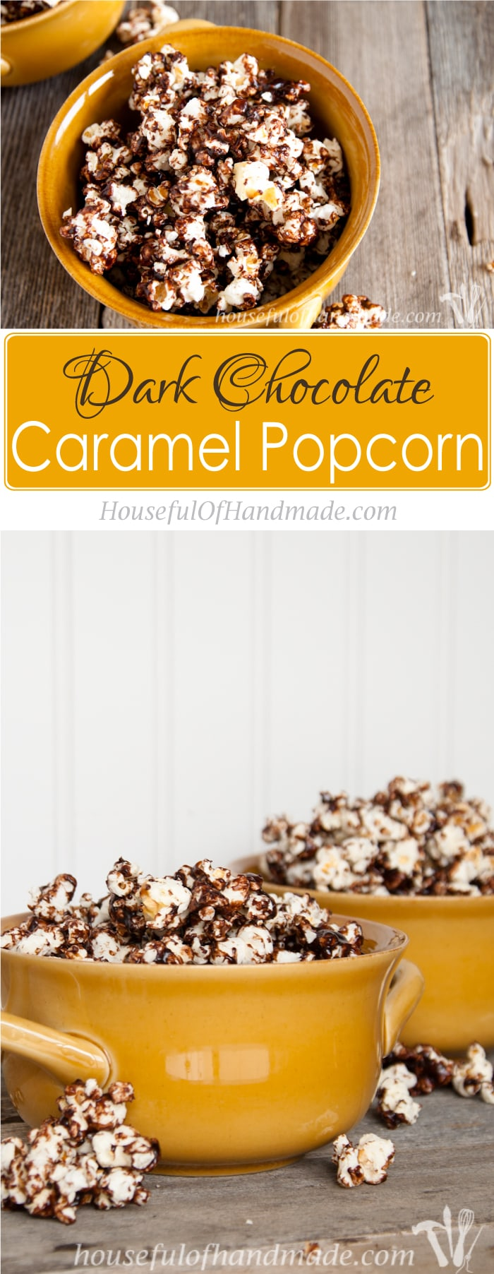 how to make chocolate caramel popcorn