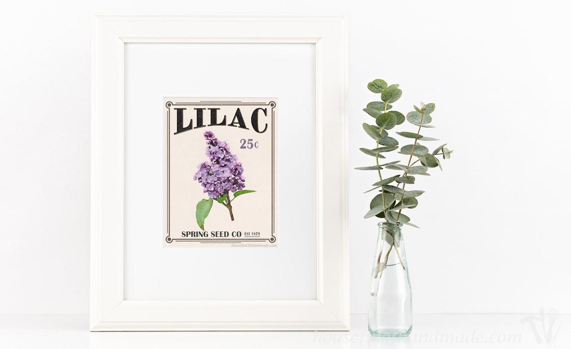 free printable vintage seed packet art - houseful of handmade