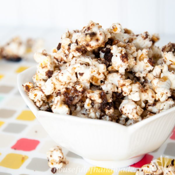 German Chocolate Cake Caramel Popcorn