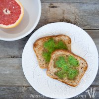Green Shamrock Eggs & Toast