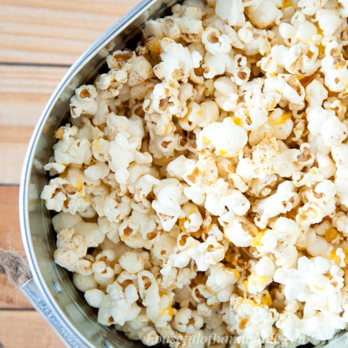 Sharp Cheddar Cheese Popcorn made with Real Cheese