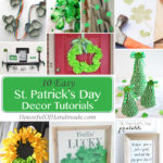 Get ready for St. Patrick's Day by decorating your home with all things green. 10 easy St. Patrick's Day decor tutorials! | Housefulofhandmade.com