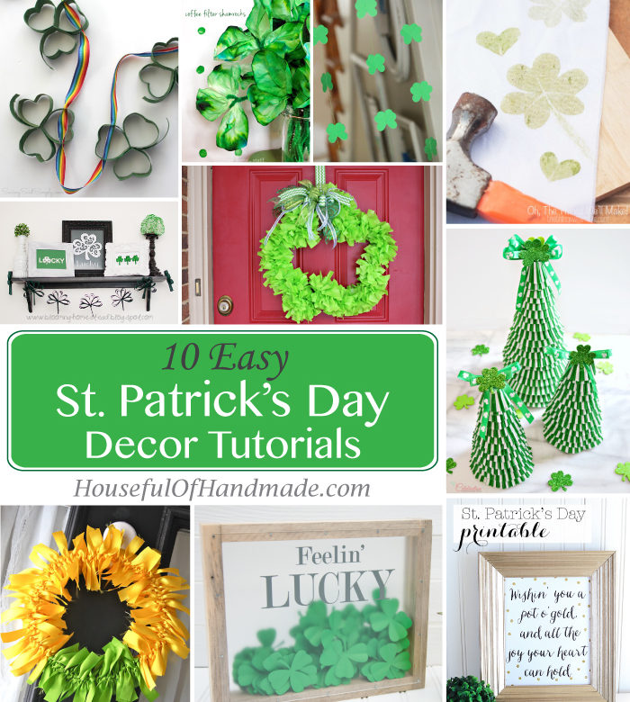 10 easy st patrick 39 s day decor tutorials a houseful of for St patricks day decorations for the home