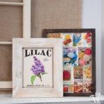 I love vintage flower art! Make this easy vintage flower collage for the perfect spring decor. | Housefulofhandmade.com