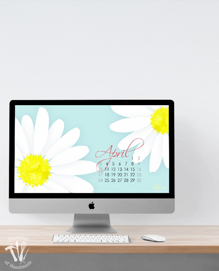 Welcome April with these free digital backgrounds for April from Houseful of Handmade. These bright, fun and colorful flowers are the perfect way to bring spring to your electronics. Get your free download today. | Housefulofhandmade.com