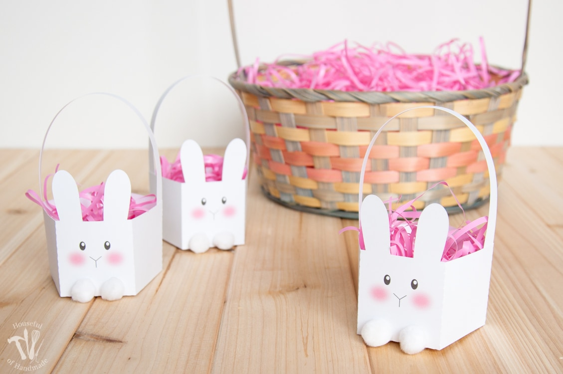 Mini bunny baskets for cute Easter gifts
