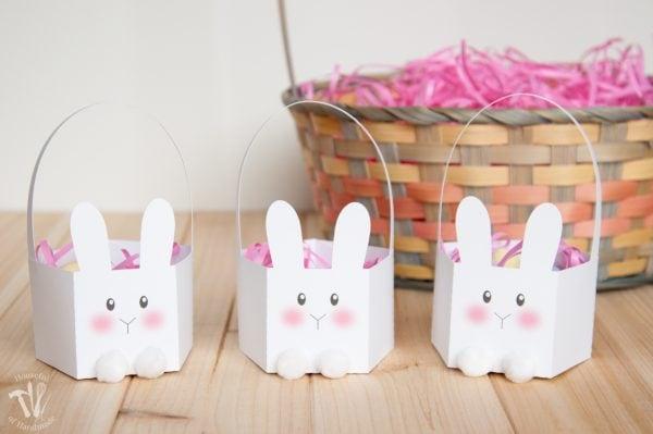 Printable bunny Easter baskets