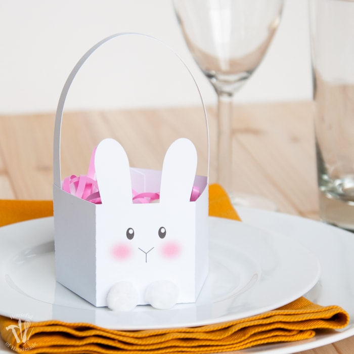 Free Printable Bunny Easter Baskets