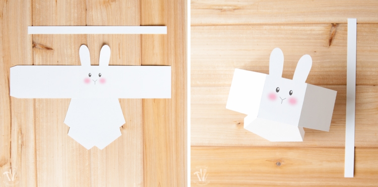 Make super cute bunny boxes with this free printable