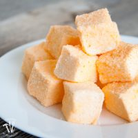 Homemade Orange Honey Marshmallow Peeps