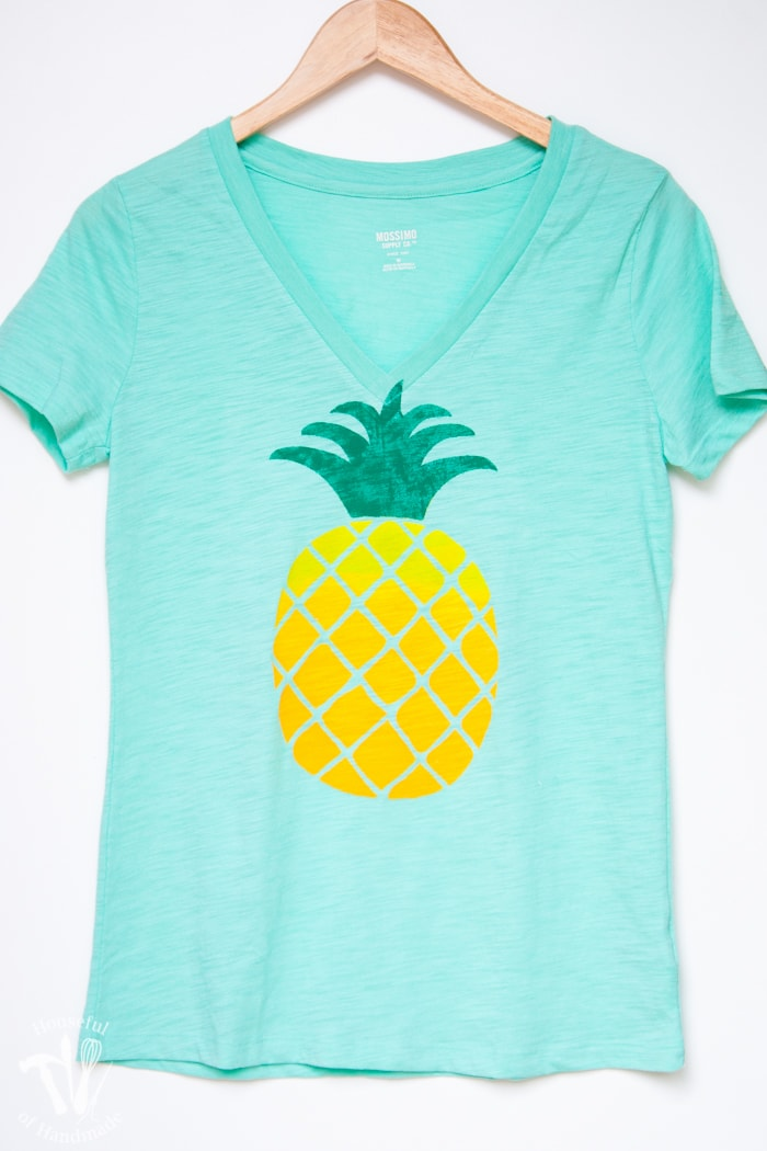 Ombre pineapple screen print tee a houseful of handmade for Screen print on t shirts