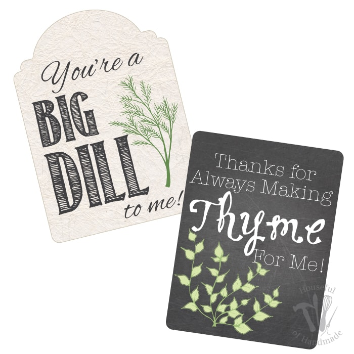 """This is such a beautiful and easy teacher appreciation gift. Free printable gift tags inside potted herbs are a great way to say """"Thank You"""". 