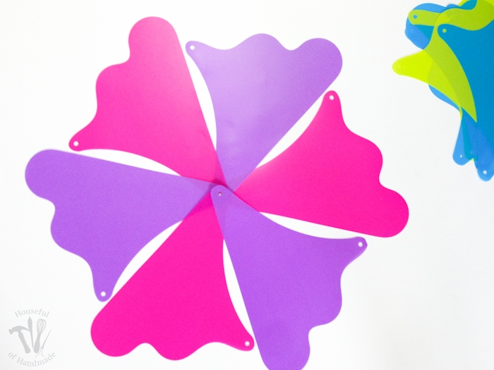 pinwheel template in pink and purple