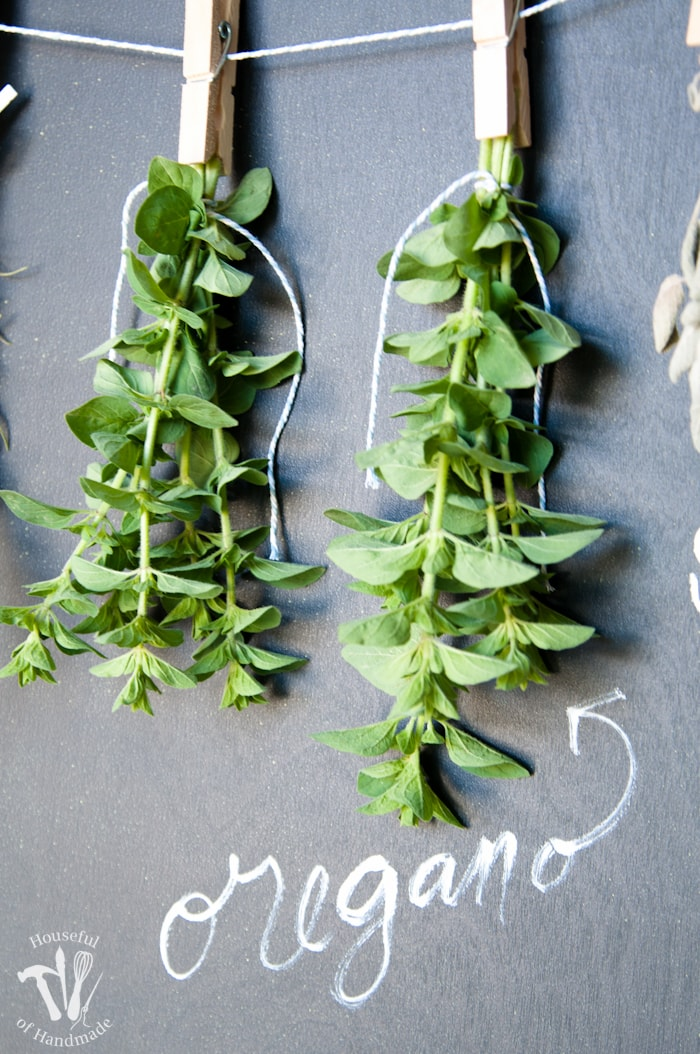 Diy Rustic Chalkboard Herb Drying Rack A Houseful Of