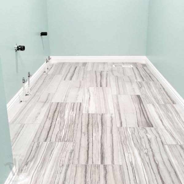Master Bathroom Update- Installing Baseboards and Door Trim