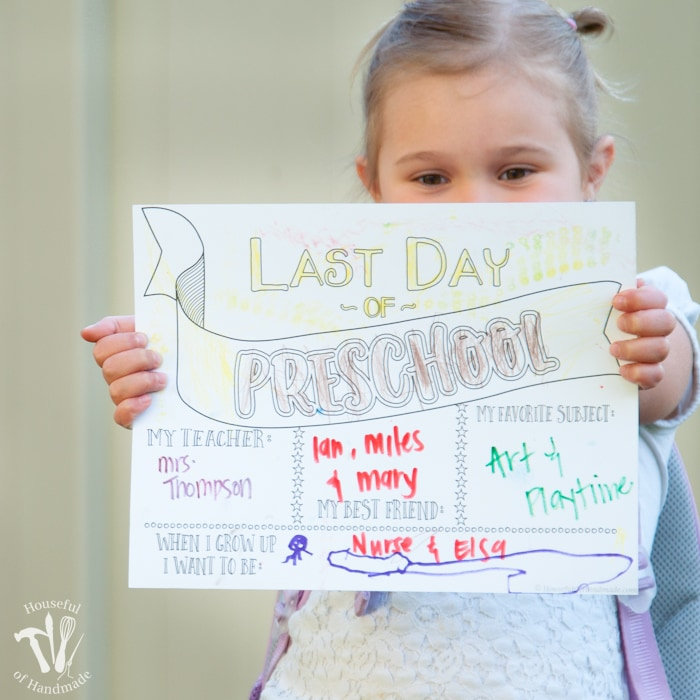 Last Day of School Coloring Page Printables a Houseful of Handmade
