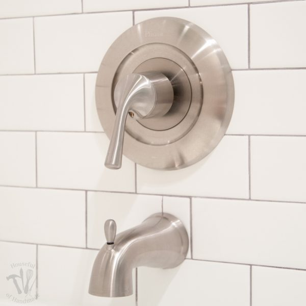 I thought installing new tub & shower fixtures would be easy, boy was I wrong! Before you start your own bathroom remodel you want to read what I learned about tub & shower trim and valves. | Housefulofhandmade.com