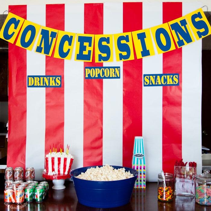 movie theater birthday party Movie Theatre Themed Birthday Party   Houseful of Handmade movie theater birthday party