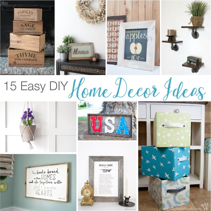 15 easy diy home decor ideas a houseful of handmade Diy ideas for home design