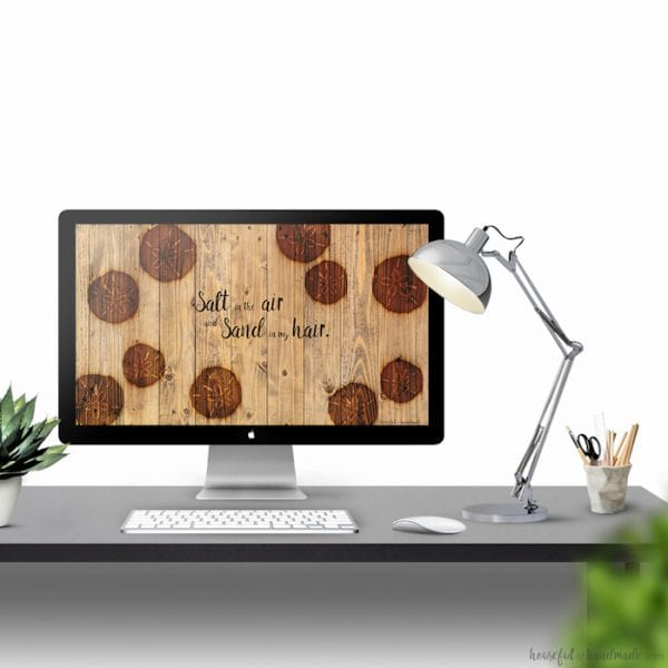 I love rustic and coastal decor so these backgrounds are perfect! I can't decide if I like the calendar or the summer saying best. Enjoy the rustic look of wood burning with a little bit of the ocean in this month's free digital backgrounds. Includes a July calendar or a summer saying.| Housefulofhandmade.com