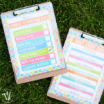 Keep your kids responsible this summer with these bright and colorful free printable summer chore charts. Two charts: one for daily responsibilities and one to keep track of daily chores. Download yours today.   Housefulofhandmade.com