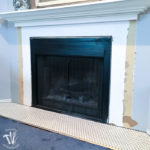 I'm working on updating a boring fireplace with a farmhouse style starting with tiling the fireplace hearth. The fireplace will be surrounded with beautiful white hexagon tiles with a gray grout. A wonderful update for only $100.   Housefulofhandmade.com