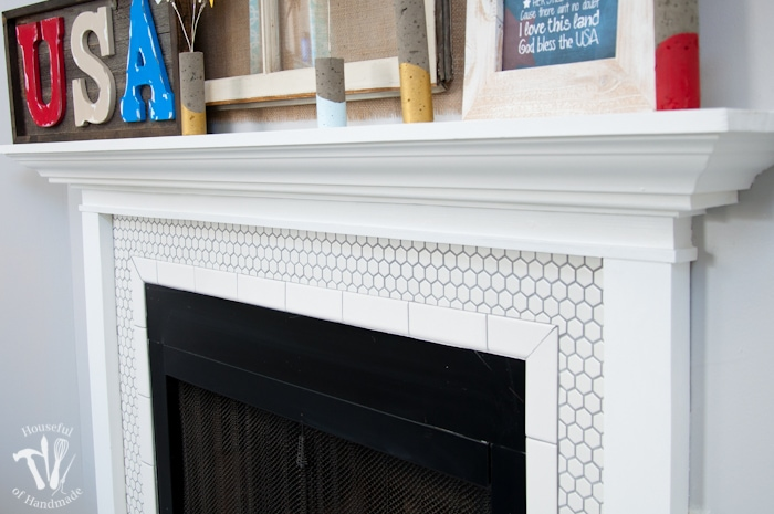 I Love This Vintage Inspired Farmhouse Fireplace DIY Your Own With New White Hexagon
