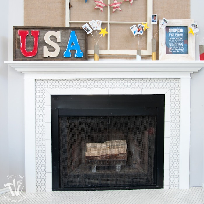 Vintage Inspired Farmhouse Fireplace Reveal