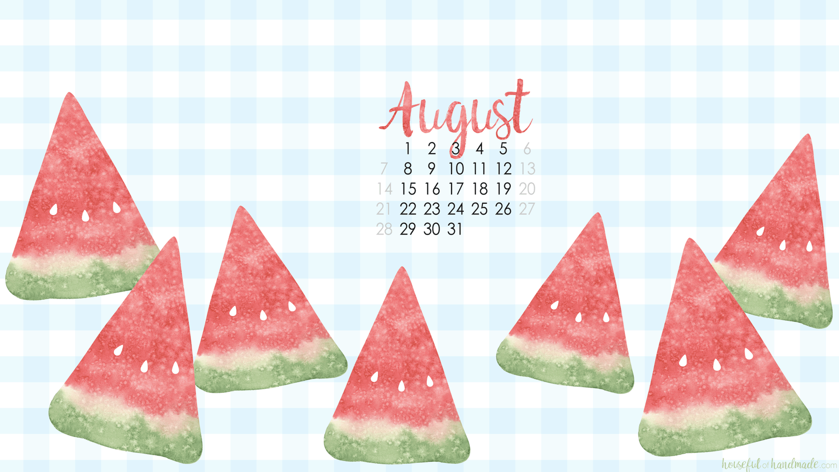 Free Digital Backgrounds For August Houseful Of Handmade