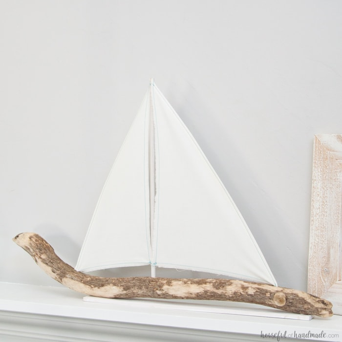 DIY Driftwood Sailboat Decor