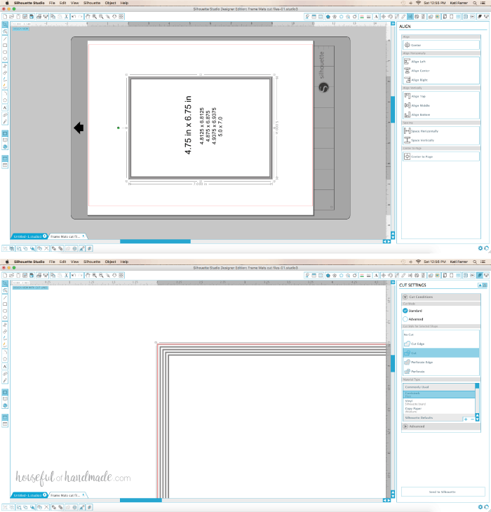 It was as easy as creating 5 rectangles, specifying the size I wanted them to be and centering them on the page.