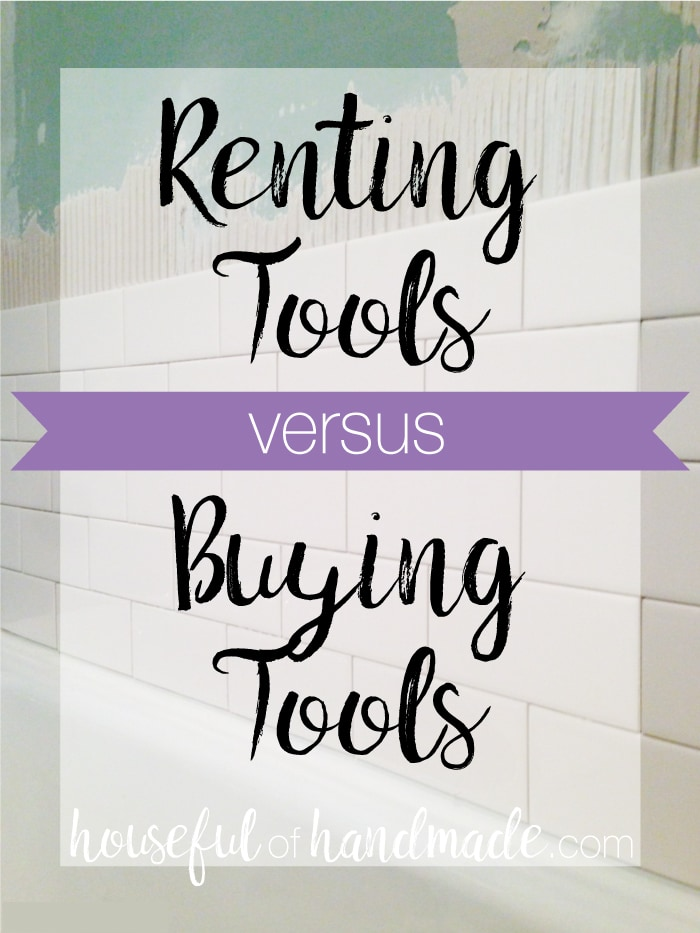 Renting tools versus buying tools pin image