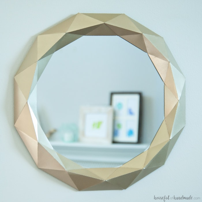 Easy $10 Anthropologie Mirror Knock Off Tutorial