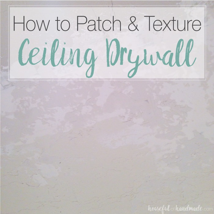 I never realized how easy it was to patch and texture ceiling drywall. You never have to worry about hiring out this easy DIY. Check out how we filled the hole in our master bathroom ceiling created by removing a wall. | Housefulofhandmade.com
